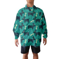 Happy Dogs Animals Pattern Wind Breaker (kids)