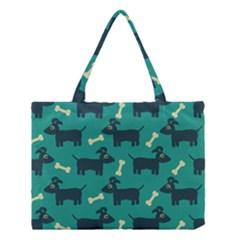 Happy Dogs Animals Pattern Medium Tote Bag