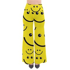 Digitally Created Yellow Happy Smile  Face Wallpaper Pants