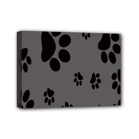 Dog Foodprint Paw Prints Seamless Background And Pattern Mini Canvas 7  x 5