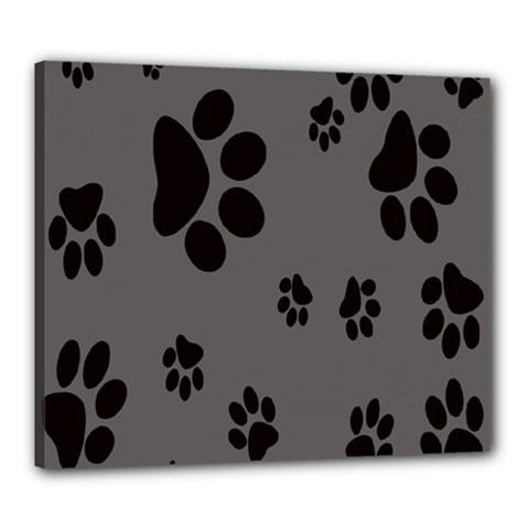 Dog Foodprint Paw Prints Seamless Background And Pattern Canvas 24  x 20