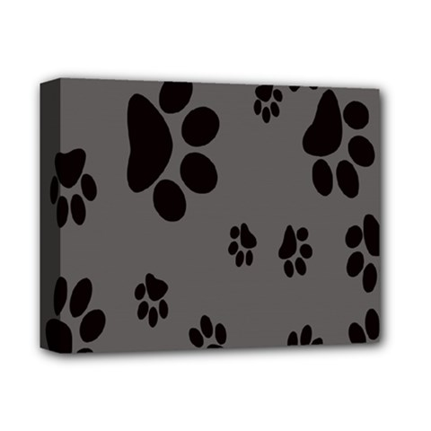 Dog Foodprint Paw Prints Seamless Background And Pattern Deluxe Canvas 14  x 11