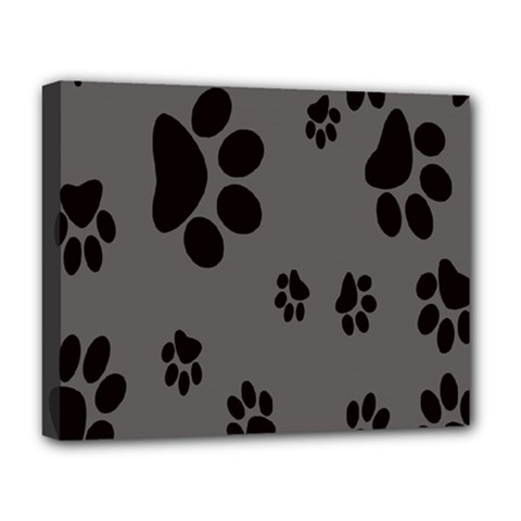 Dog Foodprint Paw Prints Seamless Background And Pattern Deluxe Canvas 20  X 16