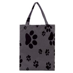 Dog Foodprint Paw Prints Seamless Background And Pattern Classic Tote Bag