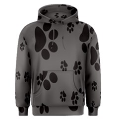 Dog Foodprint Paw Prints Seamless Background And Pattern Men s Pullover Hoodie