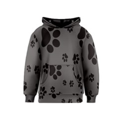 Dog Foodprint Paw Prints Seamless Background And Pattern Kids  Pullover Hoodie