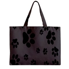 Dog Foodprint Paw Prints Seamless Background And Pattern Zipper Mini Tote Bag