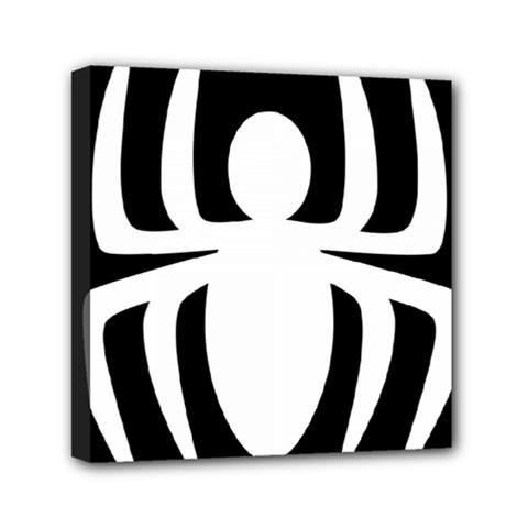 White Spider Mini Canvas 6  X 6