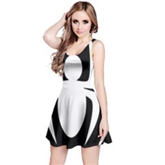 White Spider Reversible Sleeveless Dress