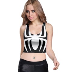 White Spider Racer Back Crop Top