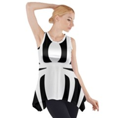 White Spider Side Drop Tank Tunic