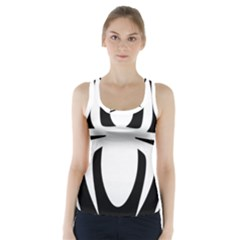 White Spider Racer Back Sports Top