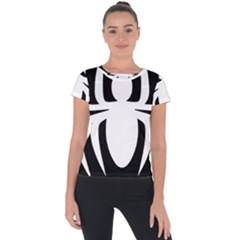 White Spider Short Sleeve Sports Top