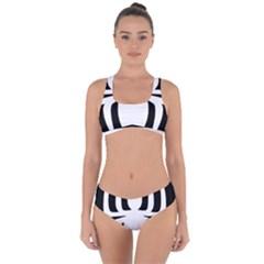 White Spider Criss Cross Bikini Set