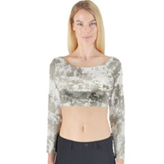Wall Rock Pattern Structure Dirty Long Sleeve Crop Top