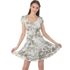 Wall Rock Pattern Structure Dirty Cap Sleeve Dresses