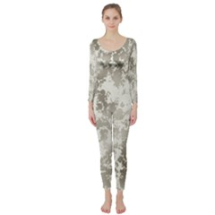 Wall Rock Pattern Structure Dirty Long Sleeve Catsuit