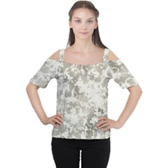 Wall Rock Pattern Structure Dirty Women s Cutout Shoulder Tee