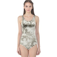Wall Rock Pattern Structure Dirty One Piece Swimsuit