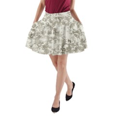 Wall Rock Pattern Structure Dirty A Line Pocket Skirt