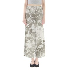 Wall Rock Pattern Structure Dirty Full Length Maxi Skirt