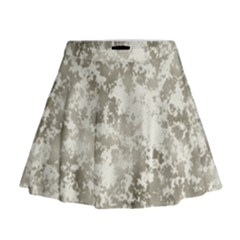 Wall Rock Pattern Structure Dirty Mini Flare Skirt