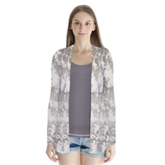 Wall Rock Pattern Structure Dirty Drape Collar Cardigan