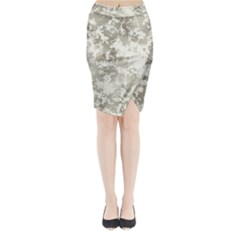 Wall Rock Pattern Structure Dirty Midi Wrap Pencil Skirt