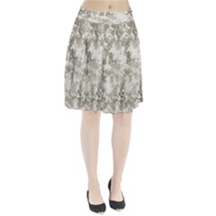 Wall Rock Pattern Structure Dirty Pleated Skirt