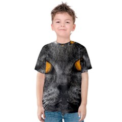 Cat Eyes Background Image Hypnosis Kids  Cotton Tee