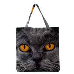 Cat Eyes Background Image Hypnosis Grocery Tote Bag