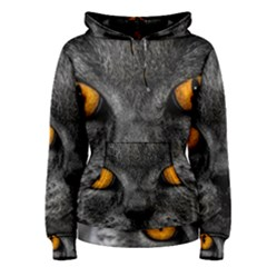 Cat Eyes Background Image Hypnosis Women s Pullover Hoodie