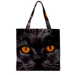 Cat Eyes Background Image Hypnosis Zipper Grocery Tote Bag