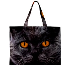 Cat Eyes Background Image Hypnosis Zipper Mini Tote Bag