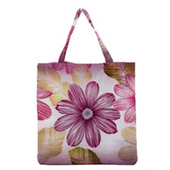 Flower Print Fabric Pattern Texture Grocery Tote Bag
