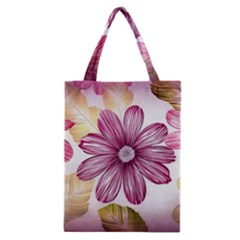 Flower Print Fabric Pattern Texture Classic Tote Bag