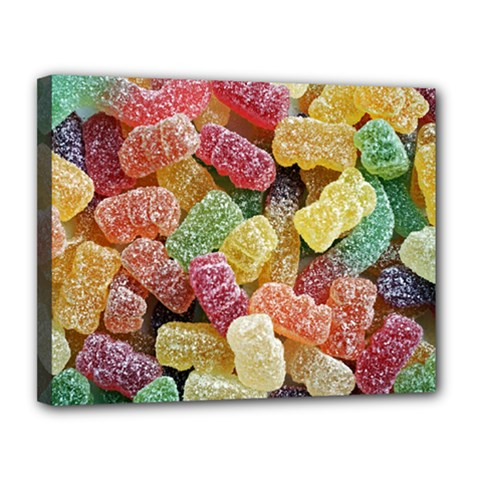 Jelly Beans Candy Sour Sweet Canvas 14  X 11