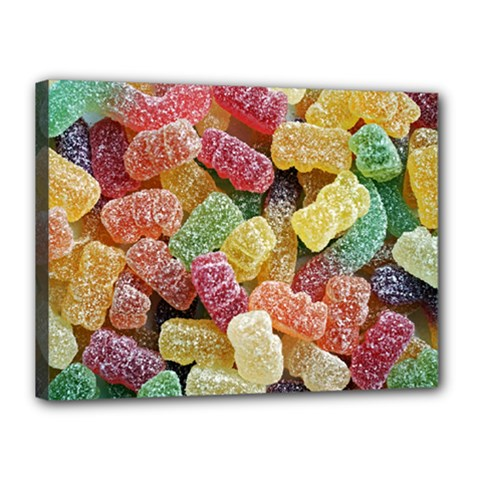 Jelly Beans Candy Sour Sweet Canvas 16  X 12