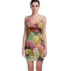 Jelly Beans Candy Sour Sweet Sleeveless Bodycon Dress