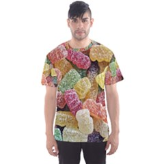 Jelly Beans Candy Sour Sweet Men s Sports Mesh Tee