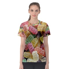 Jelly Beans Candy Sour Sweet Women s Sport Mesh Tee