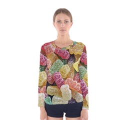 Jelly Beans Candy Sour Sweet Women s Long Sleeve Tee