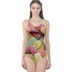 Jelly Beans Candy Sour Sweet One Piece Swimsuit