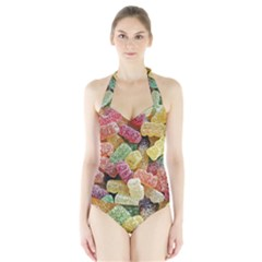 Jelly Beans Candy Sour Sweet Halter Swimsuit