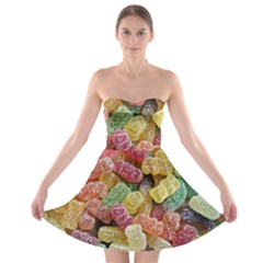 Jelly Beans Candy Sour Sweet Strapless Bra Top Dress
