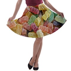Jelly Beans Candy Sour Sweet A-line Skater Skirt