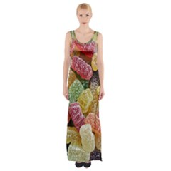 Jelly Beans Candy Sour Sweet Maxi Thigh Split Dress