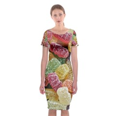 Jelly Beans Candy Sour Sweet Classic Short Sleeve Midi Dress