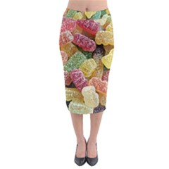 Jelly Beans Candy Sour Sweet Midi Pencil Skirt