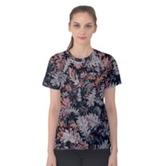 Leaf Leaves Autumn Fall Brown Women s Cotton Tee